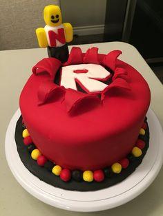 ROBLOX cake Roblox Birthday Cake, Roblox Cake, 9th Birthday Cake, 9th Birthday Parties, Best Cake Ever, Cupcake Cakes, Cupcakes, Chocolate Mousse Cake, Unique Cakes