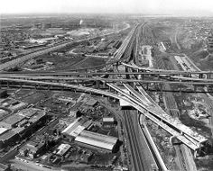 Turcot Yard and interchange Montreal Ville, Montreal Quebec, Old Pictures, Old Photos, Photo Vintage, Hotel Pool, Abandoned Buildings, Canada Travel, Winter Scenes