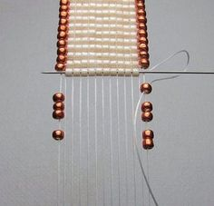 How to Add Edge Beads to Loom Work ~ Seed Bead Tutorials