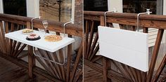 folding table for the balcony railing