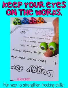 Keep your eyes on the words - these wiggly eyes are the perfect reminder!