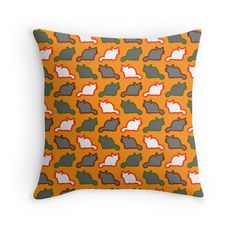 Cute cat pattern in orange #S6GTP