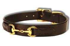 Princeton Ring Bit Gucci Dog Collar | EVG Leather
