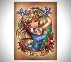 Top 10 des princesses Disney en tatouage de pin-up, pour les bikers qui ont gardé une âme d'enfant