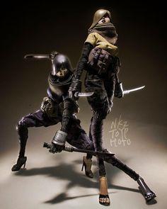 3ALegion feature: TKLUB Underverse Ninja Tomorrow Queen Tsuru and Underverse Ninja Deathmask TQ, photographed by n_k_z_