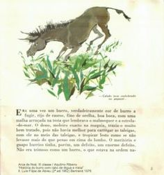 """(Arca de Noé, III classe; 6) """"História do burro com rabo de légua e meia"""" / Aquilino Ribeiro; Ilustrações de Luís Filipe de Abreu.Livraria Bertrand. (2ª 1962) reimpressão de 1976"""