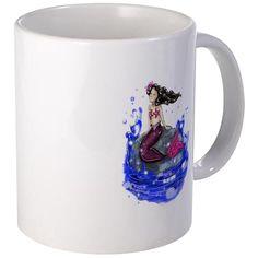 Mandy The Mermaid Mugs www.teeliesfairygarden.com Express yourself with our premium-sized ceramic coffee mug. #fairymug