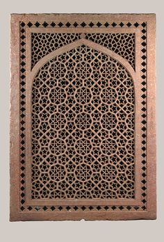 Jali (screen) were used extensively in Indian architecture as windows, room dividers, and railings around thrones, platforms, terraces, and balconies. Installed in outer walls, they were ideal for cutting down glare while permitting air to circulate. During the day, the reflection of their patterns moving across the floor would double the pleasure of their intricate geometry.