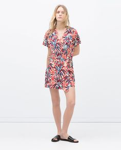 Image 1 of PALM TREE CROSSOVER DRESS from Zara