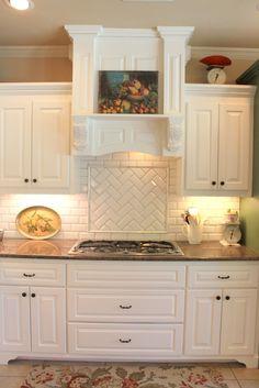 tile splashback french provincial kitchen - Google Search