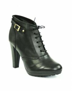 Gerard Pasquier Leather Lace-Up Booties