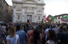 Siena 2 Luglio 2014 - Palio - Contrada del Drago at Basilica di Provenzano