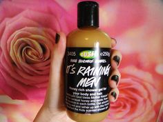 It's Raining Men shower gel by LUSH.  Smells like Honey I Washed the Kids but in liquid form.