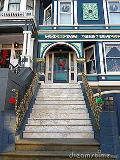 Victorian house entrance