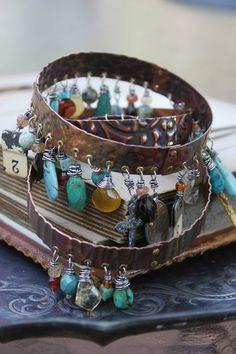 Bangle stack - beautiful bracelelts by Deryn Mentock via Something Sublime