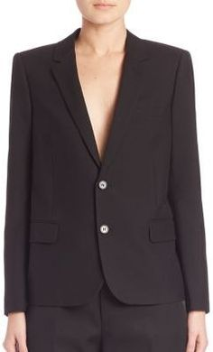 Saint Laurent Virgin Wool & Mohair Suit Jacket