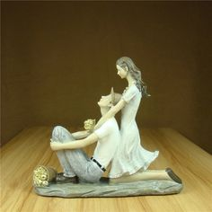 Romantic Countryside Couple Statue Resin Date Lovers Figurine Household Ornament Craft Valentine's Day Gift for Wedding Decor. Subcategory: Home Decor. Marriage Anniversary, Anniversary Present, Valentine Crafts, Valentine Day Gifts, Valentines, Ornament Crafts, Memorable Gifts, Countryside, How To Memorize Things