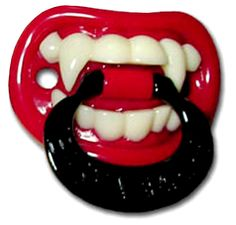 Goth vampire pacifier from My Baby Rocks - gothic baby clothes and gifts