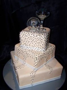 Absolutely LOVE this!!! Perfect New Years Cake!! Spilled Champagne Cake