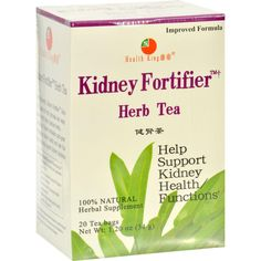 Health King Kidney Fortifier Herb Tea Description: Diuretic Strengthen the Kidney 100% Natural Kidney Fortifier Herb Tea is made of wild pyrrosia and alisma. They provide alisol A and B, b-sitosterol,