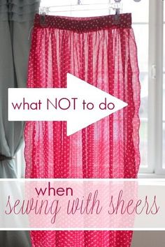what NOT to do when sewing with sheers plus 6 tips to help you do it right from vanillajoy.com