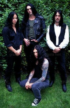Type-O-Negative- I love when unlikely bands pose awkwardly in nature.