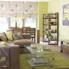 Natural green living room | Living room design | Decorating ideas | Image | Housetohome
