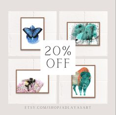 The holidays are over, but you can still shop for great gifts and home decor at etsy.com/shop/adlayasart! I've got downloadable wall art so you can print from the safety of your own home! Enjoy 20% off on digital prints to celebrate the start of the new year! #etsyshop #artonetsy #artistonetsy #downloadablewallart #animalartprints #wildlifeartprints #instantdownloadart #cutewallart #realisticanimalart #elephantartprint #butterflyartprint #uniqueanimalart #animalwallart Canadian Wildlife, Animal Art Prints, Last Minute Christmas Gifts, Bee Art, Most Beautiful Animals, Elephant Art, Color Pencil Art, Butterfly Art, Love Drawings