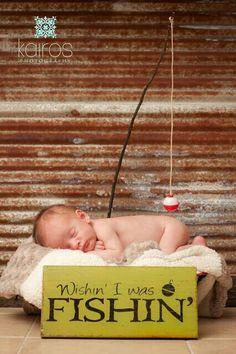 newborn picture - gone fishin'