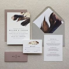 Are you interested in our boho wedding invitations? With our feather wedding stationery invites you need look no further. Bohemian Wedding Invitations, Cheap Wedding Invitations, Wedding Invitation Design, Wedding Stationary, Wedding Stationery Trends, Edgy Wedding, Wedding Suite, Wedding Vows, Budget Wedding