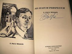 Signed Limited 1st Edition Ad Statum Perspicuum by F. Paul Wilson Fine in DJ