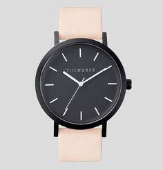the horse matte black velvet watch