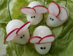Happier Than A Pig In Mud: Deviled Egg Mice for Halloween