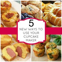 You don't just have to bake cupcakes in your Cupcake Maker! These sweet & savory recipes can also be prepare in your cupcake maker. Babycakes Cupcake Maker, Babycakes Recipes, Baby Cakes Maker, Cake Pop Maker, Cake Pops, Cupcake Recipes, Dessert Recipes, Cupcake Cupcake, Great Recipes