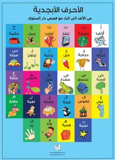 This is Arabic Alphabets Poster i made for kids , using the Characters from AlSalwa Books , you can find the books at www.alsalwabooks.com