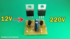how to make simple inverter to using Transistor - Understanding Electronics Electronics Mini Projects, Simple Electronics, Hobby Electronics, Electrical Projects, Electronics Components, Electronics Gadgets, Electrical Installation, Electrical Wiring, Electronic Circuit Design