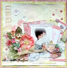 Layout by Maiko Kosugi for Prima using the Wishful Thinking collection by Leeza Gibbons. #leezagibbons