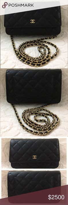 Chanel WOC Wallet On Chain Caviar Gold Hardware 100% Authentic or your Money Back. Excellent/Almost New Condition Chanel WOC 2016 Black Caviar.Clean Inside & NO Tarnished on Gold Hardware.No Card/No Dust Bag/No Receipt.Serious Buyer Only.Please Check Photos For Best Description & Please Don't Buy it if item not acceptable to you.PLEASE FOLLOW US FOR MORE GREAT DEALS TO COME!!!🅿️rice Include🆓🅿️oshⓂ️ark Concierge Service⭐️⭐️⭐️⭐️⭐️🅿️rice Firm Here at 🅿️oshⓂ️ark😊🚫NO TRADE🚫 CHANEL Bags…