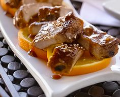 Orange and Ginger Asian-Style Ribs #Appetizer #Recipe