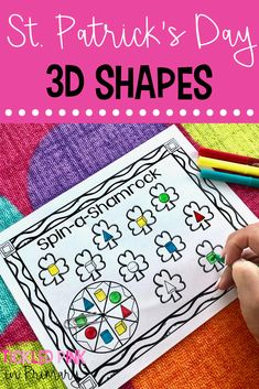 These St. Patrick's Day Activities are perfect for literacy and math centers for Kindergarten or first grade! Grab a FREE ABC order game too! Number Sense Activities, Geometry Activities, Kindergarten Math Activities, Literacy, Shape Games, Math Manipulatives, Spring Theme, Math Workshop, Spring Activities