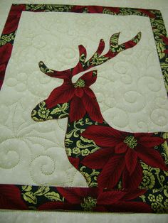 On the Frame with CeciliaQuilts: Reindeer Quilt