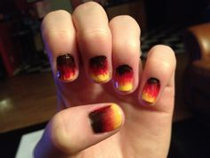 Fall nails - lil messy as compared to a lot of the ones on here, but SO PRETTY nonetheless!!!