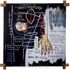 """""""Untitled (Hand Anatomy),"""" 1982 by Jean-Michel Basquiat. (2013 The Estate of Jean-Michel Basquiat/ADAGP, Paris/ARS, New York)"""