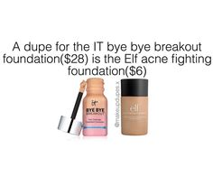 """33 Likes, 1 Comments - makeup dupes (@makeupdupes.x) on Instagram: """"these foundations are great for oily and acne-prone skin and if you want full coverage and a matte…"""""""