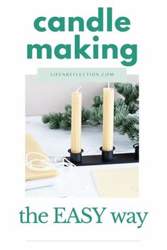 How to make rolled beeswax candles happens to be so easy, even kids can join in! Beeswax Candles, Diy Candles, Taper Candles, Candle Wax, Fun Diy Crafts, Diy Craft Projects, Candle Making For Beginners, Weekend Crafts, Burning Candle
