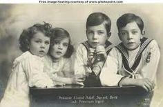 Princesse Ingrid, princes Gustave-Adolph, Sigvard et Bertil de Suède