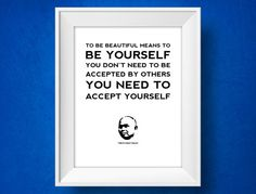 Thich Nhat Hanh Quote Print  Be Yourself  by MisterMotivate