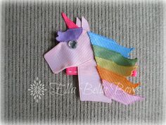 Love this Pastel Rainbow #Unicorn #HairClip by #EllaBellaBows!!  Really love the little bling going on here, makes her seem more magical, I think.  Find me on Facebook and Etsy for this and more.