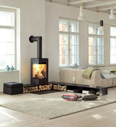 Hottest No Cost modern Wood Stove Popular Whilst solid wood is regarded as the eco-friendly heating system strategy, the item never ever looks like it's. Wood Burner Fireplace, Home Fireplace, Fireplace Design, Wood Stove Hearth, Fireplace Ideas, Home And Living, New York Loft, Sweet Home, New Homes
