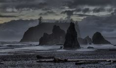 Stormy Ruby Beach, Olympic National Park, Washington State